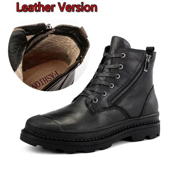 Genuine leather Autumn Men Boots Winter Waterproof Ankle Boots Martin Boots Outdoor Working Boots Men Shoes - TRIPLE AAA Fashion Collection