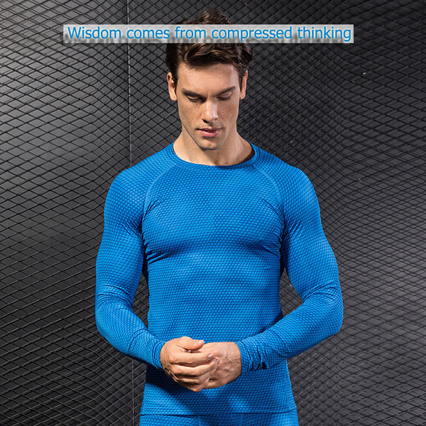 Long Sleeve Sport Shirt Men Quick Dry Running T-shirts Gym Clothing Fitness Top Crossfit T Shirt - TRIPLE AAA Fashion Collection