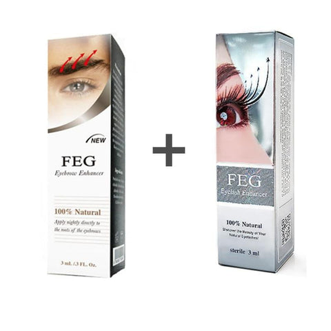 FEG eyelash enhancer eyebrow enhancer 2 boxes in a pack Help eyelash growing eyebrow growth liquid - TRIPLE AAA Fashion Collection