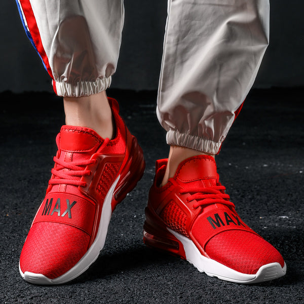 Sports Shoes Men Red Army Green Breathable Air Cushion Jogging Shoes Adult Athletic Outdoor Sneakers Men - TRIPLE AAA Fashion Collection