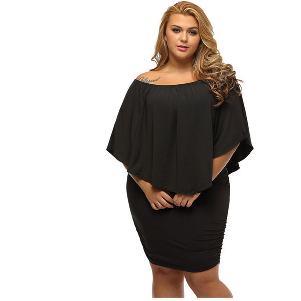 Plus Size Sexy Mini Dress - TRIPLE AAA Fashion Collection