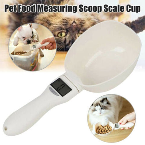 Pet Measuring Spoon Cup Of Pet Dog Food Water Scoop Scale Spoon LED Display Bowl For Cat Pets Feeder Dog Feeding Bowls - TRIPLE AAA Fashion Collection