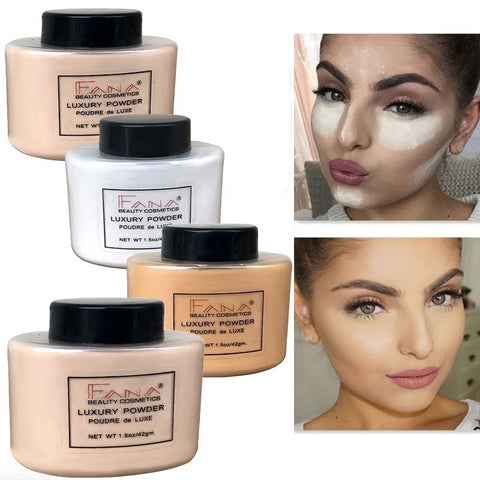 FANA Banana Loose Powder Oil Control Long Lasting Face Makeup Highlighter Mineral Smooth Translucent Setting Powder Beauty Cosmetics - TRIPLE AAA Fashion Collection