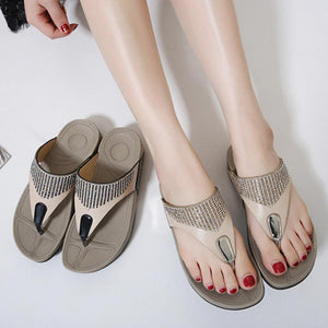 Shoes Flip flops Fashion Summer Sandals Bohemian Wedge Flops Beach Sandals Casual Shoes - TRIPLE AAA Fashion Collection