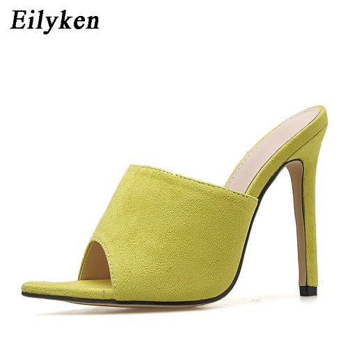 Pointed Stiletto High Heel 12.5CM Slippers Sandals Rubber Sole Woman Shoes - TRIPLE AAA Fashion Collection