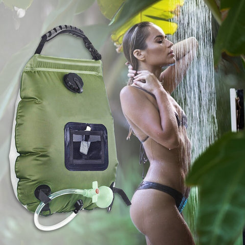 Portable Shower 20L Sun absorbs heat Water Storage Bags Outdoor Camping Hiking Heating Shower Bathing Bags Heating Shower Bags - TRIPLE AAA Fashion Collection