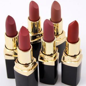 Matte Lipstick Lot Cosmetic Waterproof Long Lasting Pigment Velvet Miss Rose Brand Sexy Red Lip Matte Nude Lipstick - triple-aaa-fashion-collection