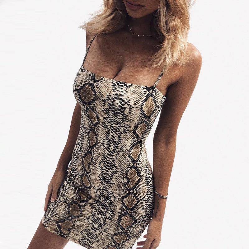 Leopard sexy bodycon mini dress women sleeveless summer dresses fashion slim skinny hot ladies dress - TRIPLE AAA Fashion Collection