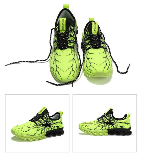 Running shoes summer sports men and women mesh comfortable breathable elastic sneakers - TRIPLE AAA Fashion Collection