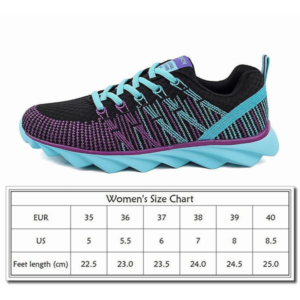 Golden Sapling Womens Tennis Shoes Woman Sneakers Breathable Fabric Air Mesh Lace Women's Sneakers - TRIPLE AAA Fashion Collection