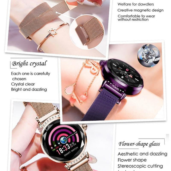 Arrival H2 Smart Watch Women Fashion Bracelet With Heart Rate Monitor Pedometer Fitness Tracker Smartwatch for IOS Android - TRIPLE AAA Fashion Collection