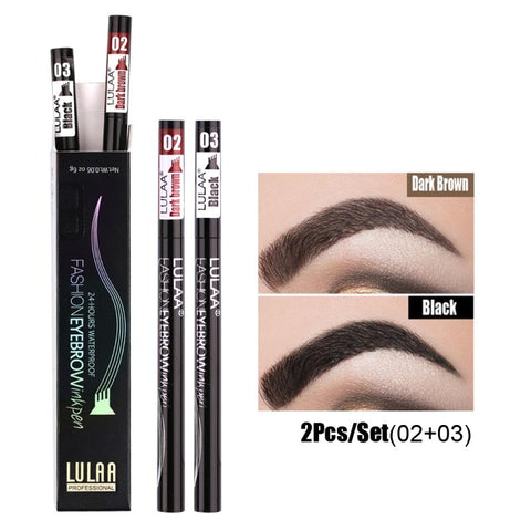2 Or 1pcs Pro Microblading Eyebrow Tattoo Pen 4 Fork Tips Fine Sketch Liquid Eyebrow Pencil Waterproof Eyebrow Tint Makeup TSLM2 - TRIPLE AAA Fashion Collection