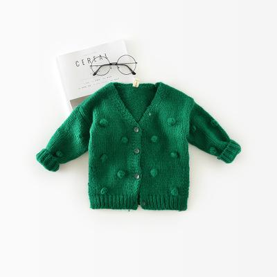 1-3 Years Old Baby Girl Sweater Child 17 Winter Ball In Hand Down Sweater Cardigan Jacket Cardigan For Girl Girls Cardigan - TRIPLE AAA Fashion Collection