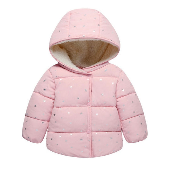 Baby Girls Jacket Autumn Winter Jacket For Girls Coat Kids Warm Hooded Outerwear Children Clothes Infant Girls Coat - TRIPLE AAA Fashion Collection