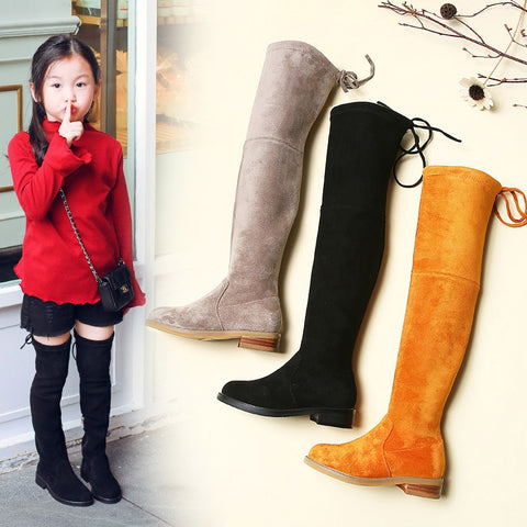 Children Over Knee Boots Girl Shoes Knee Fashion Children Boots 2019 Autumn And Winter Princess Girls Boots - TRIPLE AAA Fashion Collection