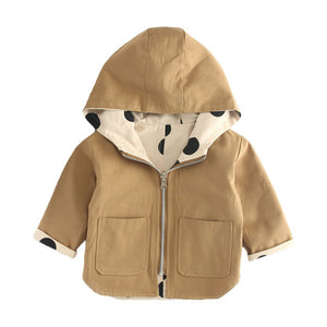 Baby Kids Jacket Coat Toddler Wear On Both Side Windbreak Fall Children Trench Coat Outerwear Baby Boys Girls Clothes - TRIPLE AAA Fashion Collection
