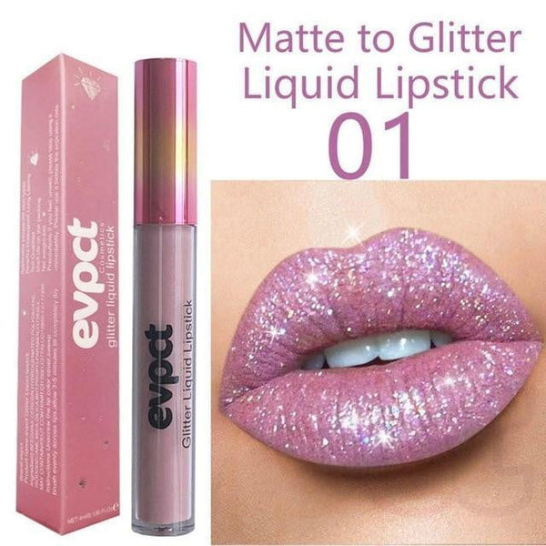Glitter Makeup Cosmetic New Long Lasting Waterproof Soft Liquid Lip Gloss - TRIPLE AAA Fashion Collection