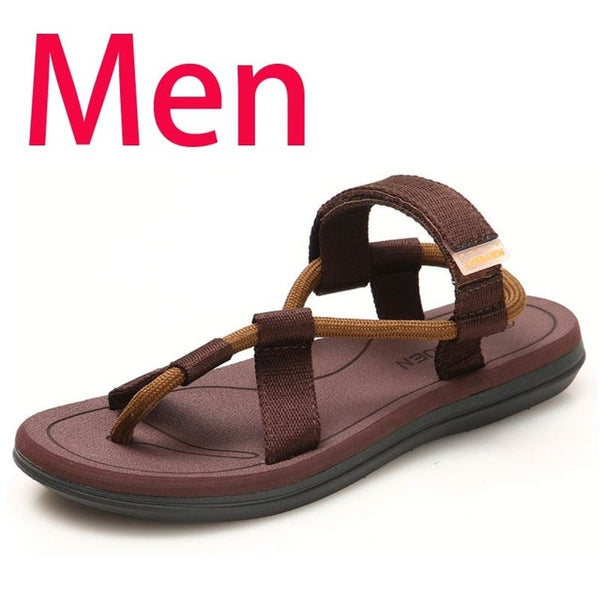 Men Sandals Summer Beach Shoes Roma Leisure Breathable Gladiator Sandals Male Shoes Adult Flip Flops Shoes Zapatos Hombre - TRIPLE AAA Fashion Collection