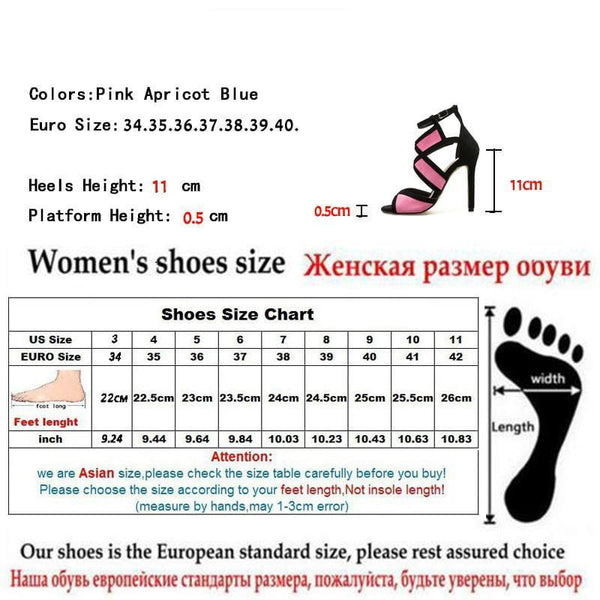 Eilyken New Desiger Sexy Women Sandals Hollow out Buckle Strap High Heels Bridesmaid Bridal Wedding Pumps Sandals size 35-40 - TRIPLE AAA Fashion Collection
