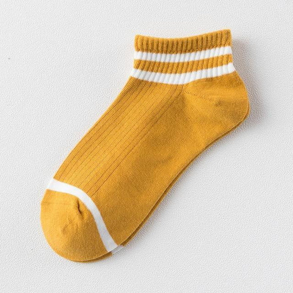 College wind striped boat socks Women's casual cute socks socks women's socks - TRIPLE AAA Fashion Collection