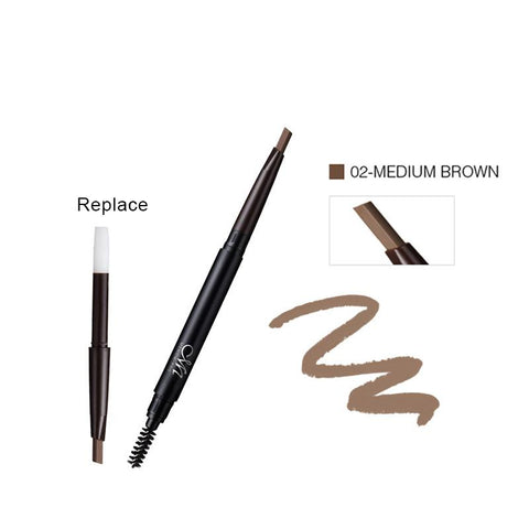 MENOW Brand Make up set Eyebrow Pencil With Brush and Replace Eyebrow Waterproof Long Lasting Cosmetic kit  E411 - triple-aaa-fashion-collection