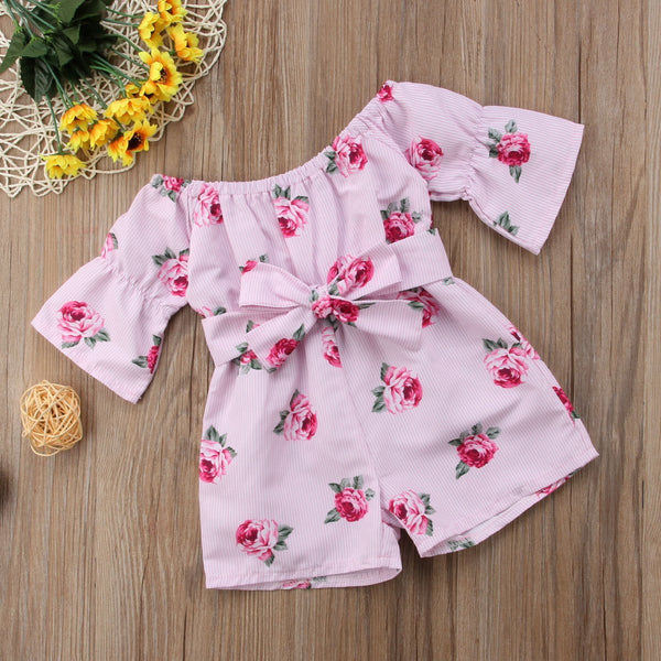 Girl Jumpsuits 6M-5Y US Kids Baby Girl Romper Floral Jumpsuit Sunsuit Summer Outfits Clothes - TRIPLE AAA Fashion Collection