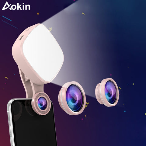 Selfie Ring Light with HD 3 in 1 Fisheye Wide Angle Macro Lens Flash Led Camera Phone Photography for iPhone Samsung Lens - TRIPLE AAA Fashion Collection