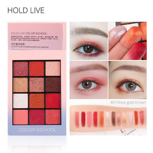 HOLD LIVE Color Focus Charm Shaow Eye Shadow Palette 12 Colors Matte Glitter Eyeshadow Palettes Pigment Nude Shadows Makeup Set - triple-aaa-fashion-collection