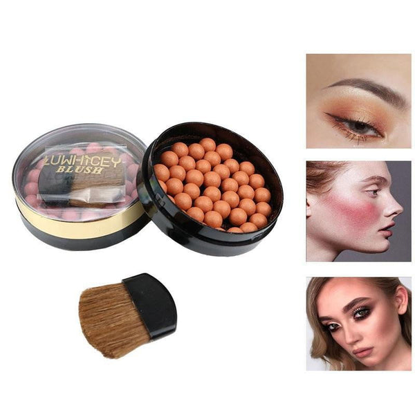 1pc Makeup Face Matte Blusher Ball 3 In 1 Blush Eyeshadow Contour Cosmetics Powder Balls 8 Colors maquiagem - TRIPLE AAA Fashion Collection