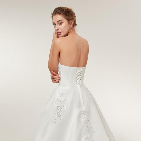 Cheap Vintage Lace Long Train Wedding Dresses 2019 Bridal Gowns Vestidos Plus Size Bridal Dress - TRIPLE AAA Fashion Collection