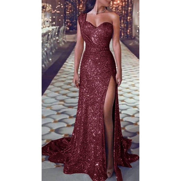 Women Sequin Dress Prom women Sexy Party Gold Sundress Ladies V Neck Dress Abiye Gece Elbisesi - TRIPLE AAA Fashion Collection