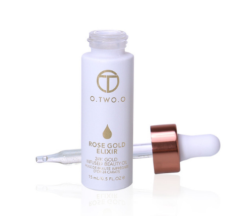 O.TWO.O 24k Rose Gold Elixir Skin Make Up Oil For Face Essential Oil Before Primer Foundation Oil Anti-aging - triple-aaa-fashion-collection