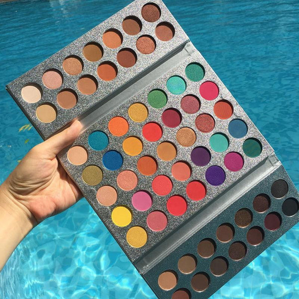 Beauty Glazed New Arrival 63 Color eyeshadow pallete Glitter Makeup Matte Eye shadow make up palette maquillage paleta de sombra - TRIPLE AAA Fashion Collection