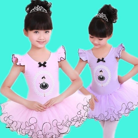 Children Dance Tulle Dress Girl Ballet Dress Fitness Clothing Performance Wear Leotard Costume Girl Ballet dresses 3-12Year - TRIPLE AAA Fashion Collection