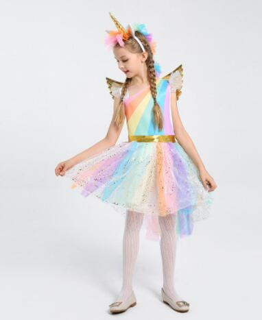 Unicorn Party With Headband Halloween Christmas Cosplay  Party Dress - TRIPLE AAA Fashion Collection