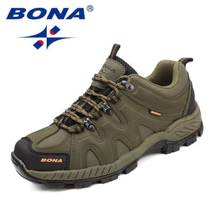 BONA Classics Style Men Hiking Shoes Lace Up Men Sport Shoes Outdoor Jogging Trekking Sneakers - TRIPLE AAA Fashion Collection