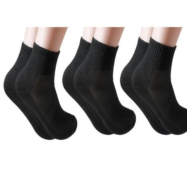 3 Pairs/Lot Fashion Socks Soft Solid White Grey Black Color Female Casual Breathable Sock Girl Hot Sox - TRIPLE AAA Fashion Collection
