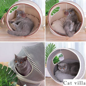 Good Quality Pet Toys Beds Cat Playing Tunnel Bed 2 Color Foldable Breather Pet Tunnel Kitten Play with Ball Pet Nest - TRIPLE AAA Fashion Collection