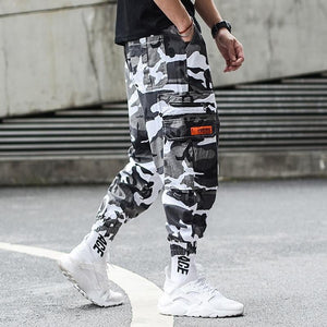 Camouflage Jogger Pants Men Hip Hop Trousers Loose Fit Ankle Banded Big Pocket Cargo Pants Streetwear Men's Punk Jeans - triple-aaa-fashion-collection