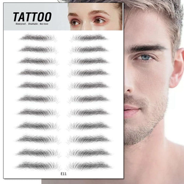 Magic 4D Hair-like Eyebrow Tattoo Sticker False Eyebrows 7 Day Long Lasting Super Waterproof Makeup Eye Brow Stickers Cosmetics - TRIPLE AAA Fashion Collection