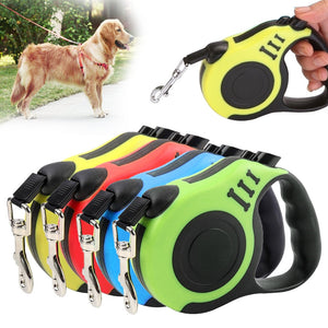 3/5M Durable Dog Leash Automatic Retractable Nylon Dog Cat Lead Extending Puppy Walking Running Lead Roulette For Dogs - TRIPLE AAA Fashion Collection