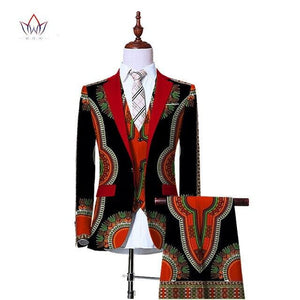 (Jacket+Vest+Pants)Blazers for Men 3 Piece Slim Fit Cowboy Wedding Men Suit Retro Gentleman Mens' African Clothing - TRIPLE AAA Fashion Collection