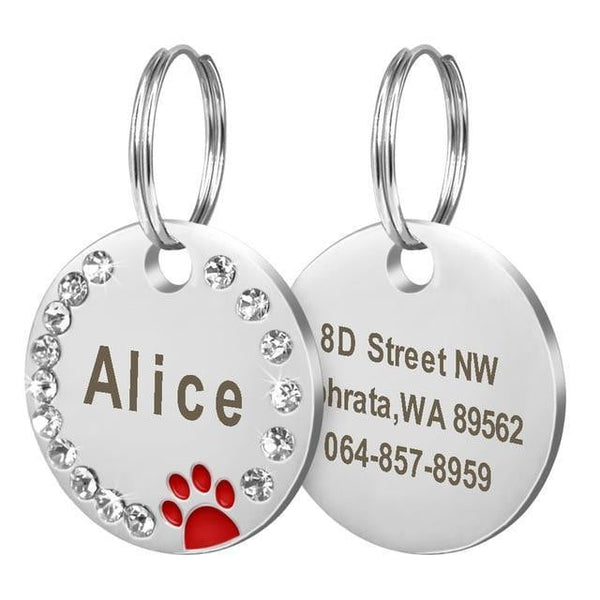 Customize Engraved Stainless Steel Pet Puppy Cat ID Tag Dog Collar Accessories - TRIPLE AAA Fashion Collection