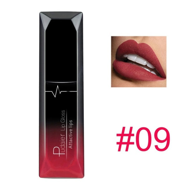 pudaier 21 Colors Metallic Liquid Lip Gloss Waterproof Matte Lip Gold 24 Hours Long - TRIPLE AAA Fashion Collection
