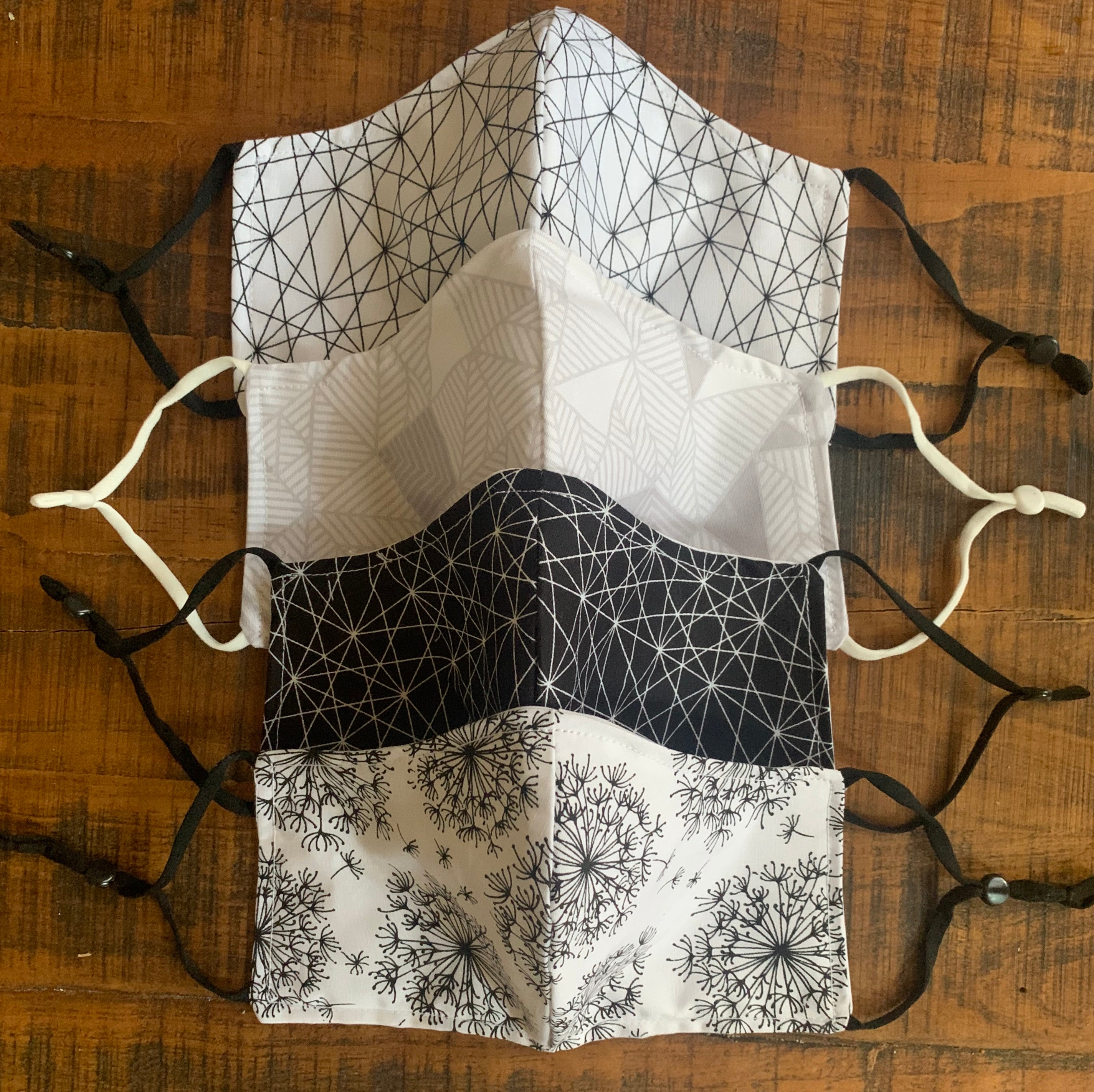Grey Geometric Mask