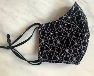 Black Geometric Mask