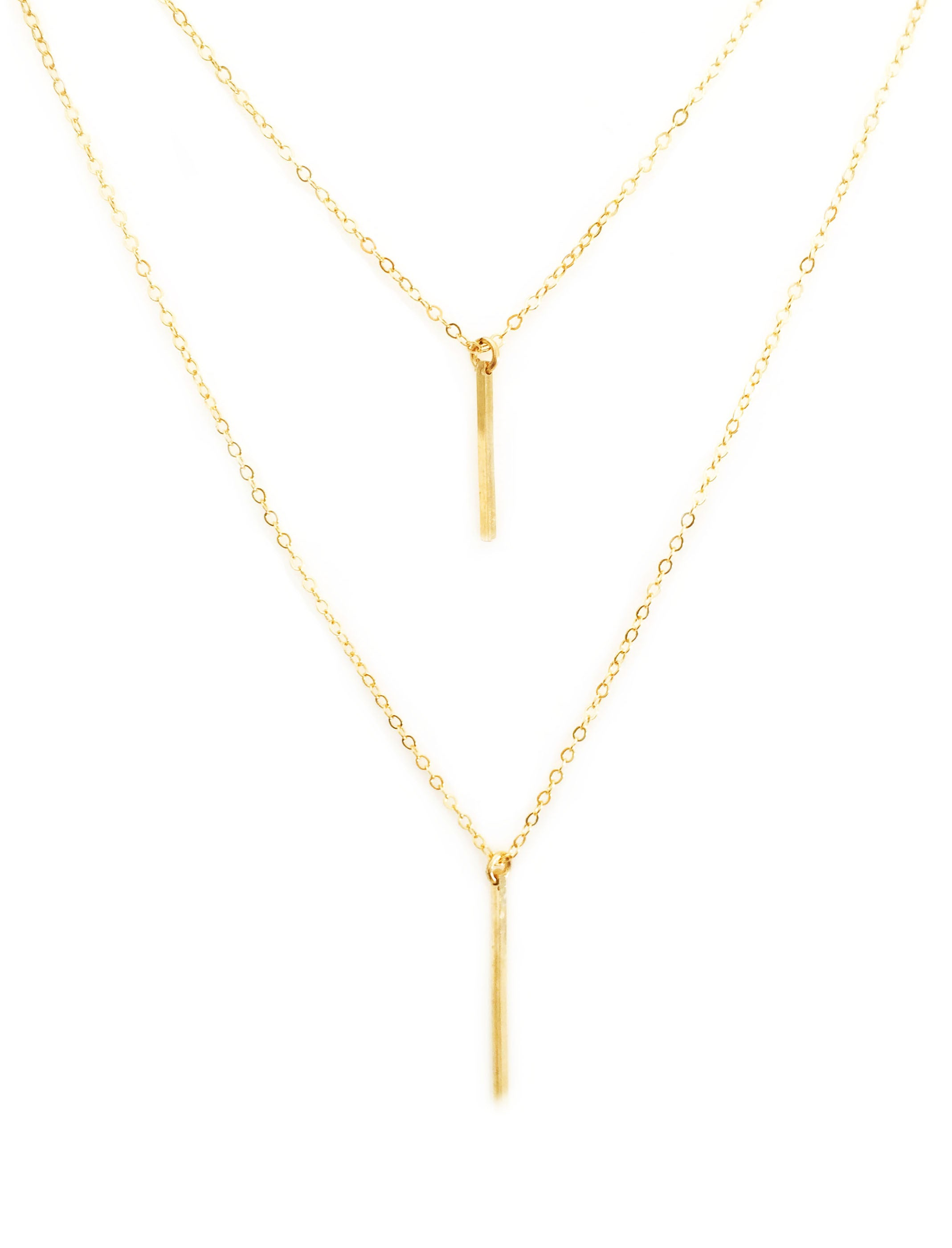 Double Bar Layer Necklace