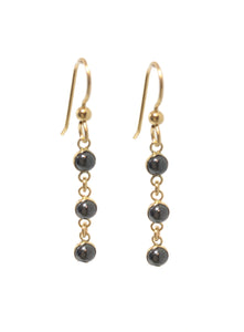 Hematite Drop Earrings