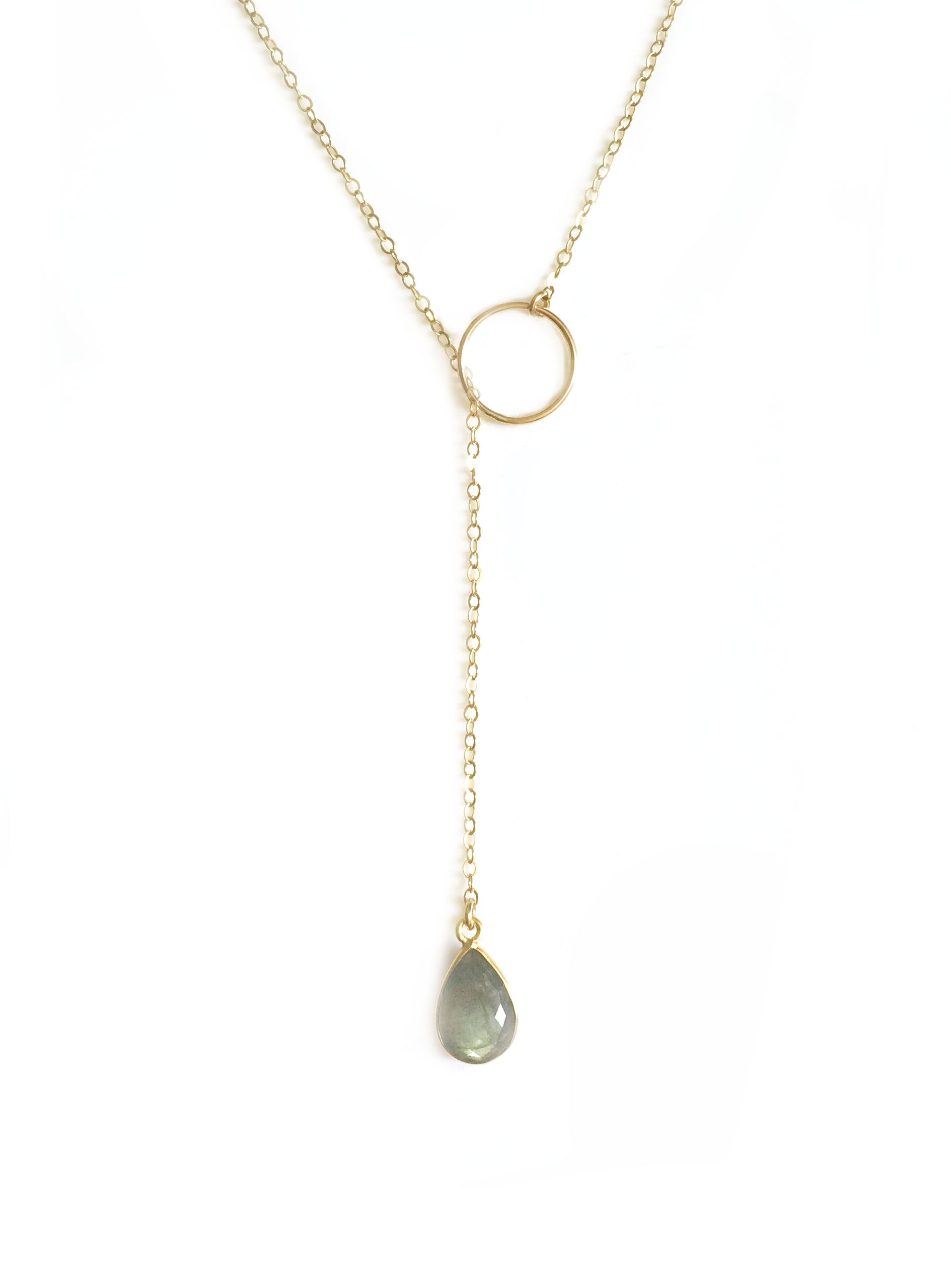 Labradorite Adjustable Lariat
