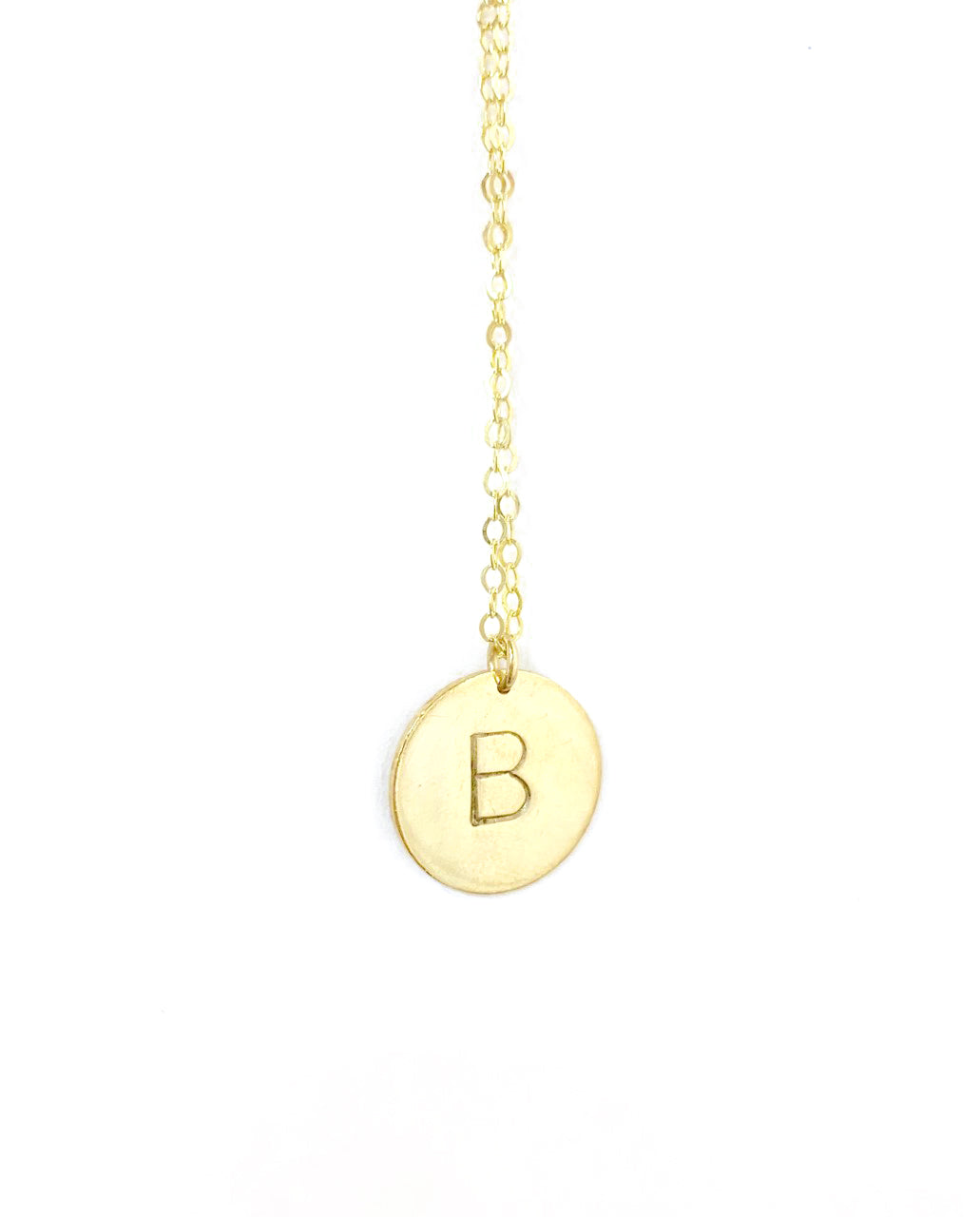Letter Necklace-2 Letters - Gold